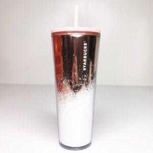 NWT Starbucks snow glitter ombré venti tumbler